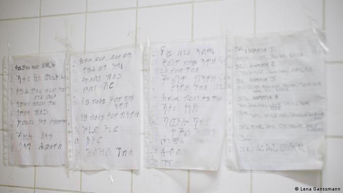 Recipes written in Amaric (Photo: Lena Ganssmann)