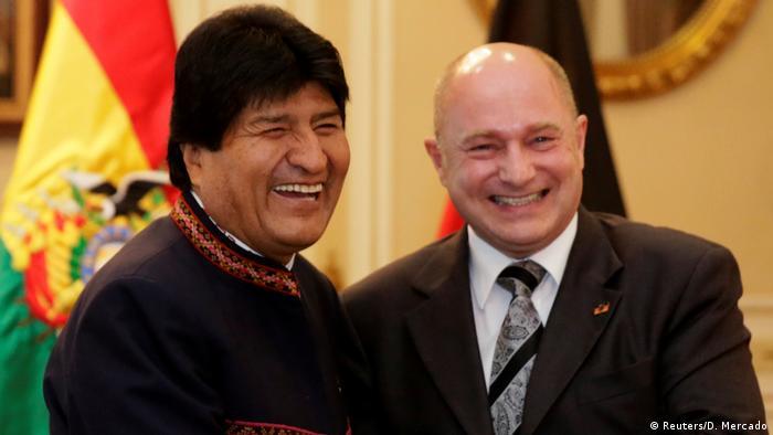 Bolivien Evo Morales und Rainer Bomba in La Paz (Reuters/D. Mercado)