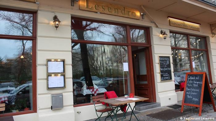 Exterior of Lesendro in Berlin (Photo: Restaurant Lesendro)