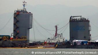 South Korea raises sunken Sewol disaster ferry