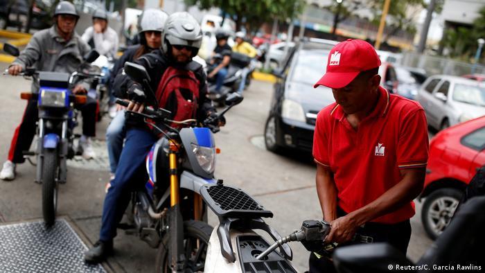 Venezuela Tankstelle in Caracas