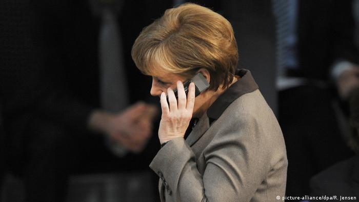 Deutschland Bundeskanzlerin Angela Merkel (picture-alliance/dpa/R. Jensen)