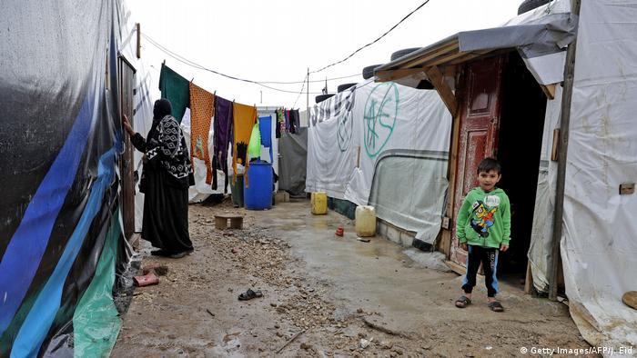 Libanon Flüchtlingslager in Bekaa