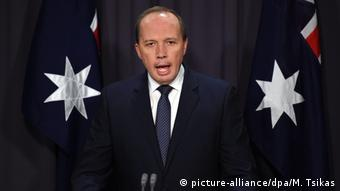 Australien Minister für Immigration Peter Dutton (picture-alliance/dpa/M. Tsikas)