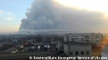 Ukraine Explosion in Balaklia, Kharkiv Region