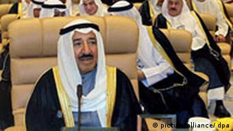 Emir of Kuwati Sheikh Sbah Al-Ahmaed Sbah at the opening session of the OPEC summit in Riyadh, Saudi Arabia, on 17 November 2007. (Photo: dpa)