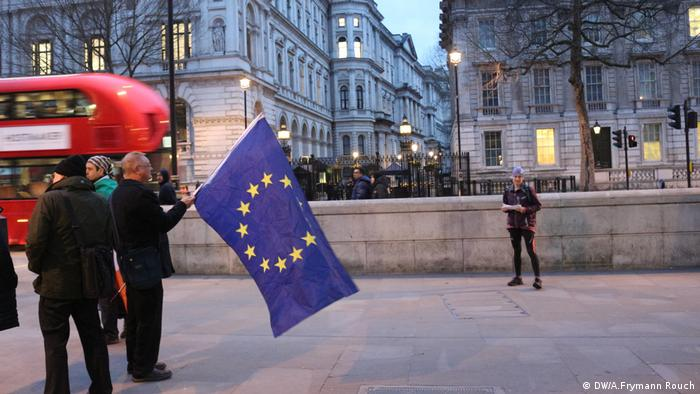 Unite for Europe march in London (DW/A.Frymann Rouch)