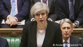 Theresa May Premierministerin England (Reuters/Parliament TV)