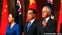 Australien Li Keqiang, Premierminister China & Premierminister Malcolm Turnbull