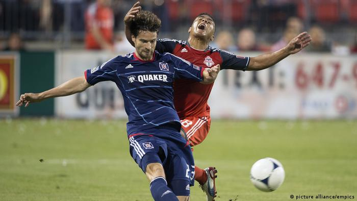 Arne Friedrich playing for Chicago Fire