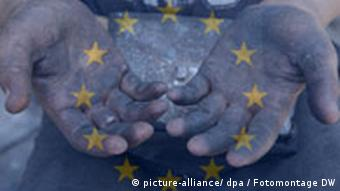 Fotomontage zu Kinderarbeit in EU-Mitgliedsstaaten