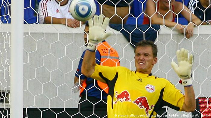 Frank Rost playing for New York Red Bulls