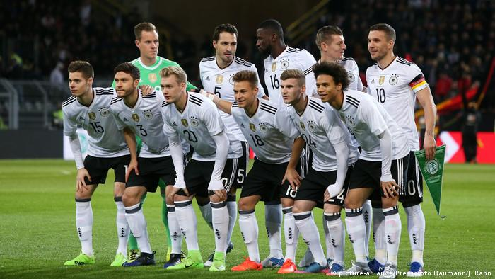 The Germany team that faced England