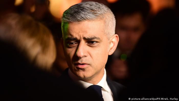 Mahnwache nach Anschlag in London - Sadiq Khan (picture-alliance/dpa/PA Wire/L. Hurley)