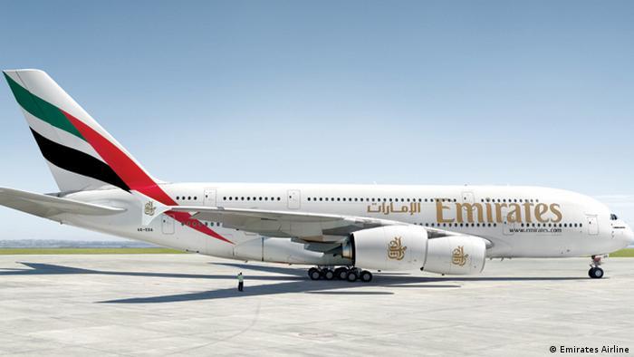 Este 26 de marzo Emirates estrenó la conexión entre el aeropuerto Guarulhos, en Sao Paulo y Dubái, Emirates es uno de los mayores operadores turísticos del mundo, con 92 aeronaves y más de 50 pedidos en curso. Esta es la primera ruta comercial regular con un A380 hacia América del Sur.