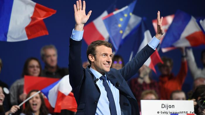 Frankreich Wahlen - Macrons Wahlkampf