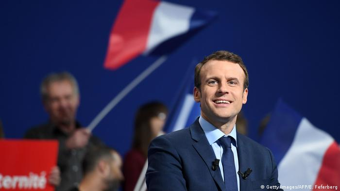 Frankreich Wahlen - Macrons Wahlkampf (Getty Images/AFP/E. Feferberg)