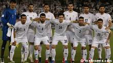 Fußball-Nationalmannschaft von Iran beim 1:0-Sieg im WM-Qualifikationsspiel in Katar in Doha