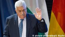 Palästinenserpräsident Abbas - hier in der Konrad-Adenauer-Stiftung in Berlin - hofft auf neue Gespräche mit Israel