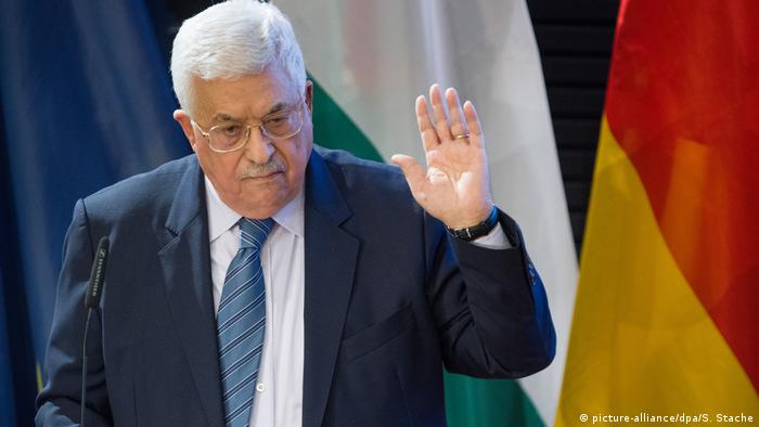Deutschland Palästinenserpräsident Mahmud Abbas in Berlin (picture-alliance/dpa/S. Stache)
