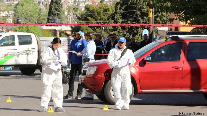 Lugar del asesinato de la periodista Miroslava Breach, en Chihuahua