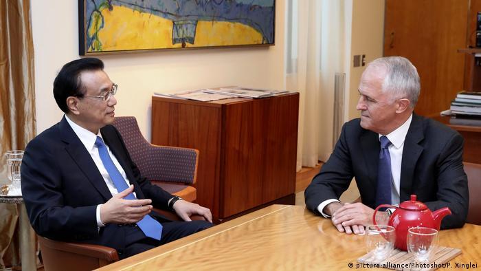 Australien Li Keqiang bei Turnbull