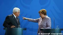 Berlin Abbas bei Merkel