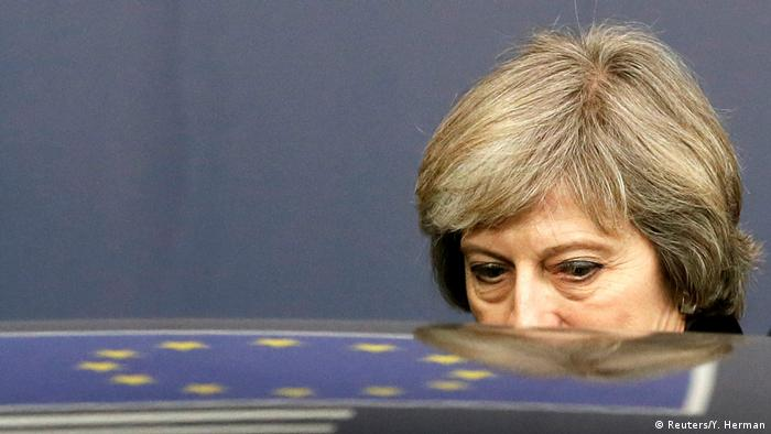 Theresa May la Bruxelles (Reuters/Y. Herman)