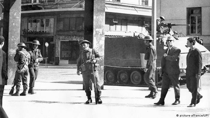 Militärputsch in Griechenland 1967 (picture-alliance/UPI)
