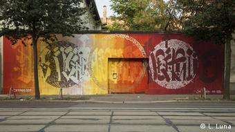 Mural del proyecto de arte urbano en Halle.