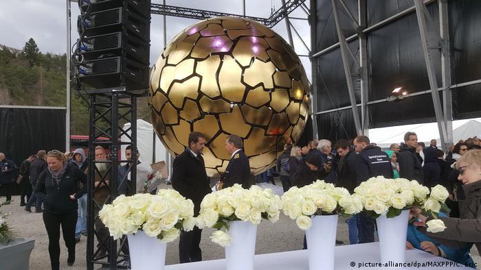 Открытие памятника жертвам катастрофы Germanwings