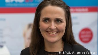 Großbritannien London - Dr. Martha Haahr vom Odense University Hospital in Dänemark auf der European Association of Urology Konferenz ( EAU/J. Willem de Venster)