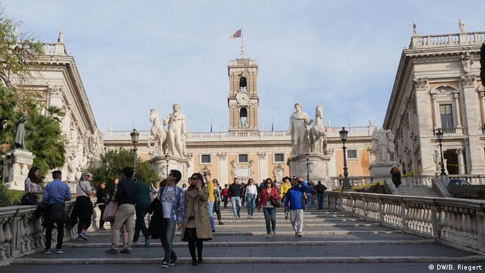 Italien Rom - Treppe zum Capitol Hügel