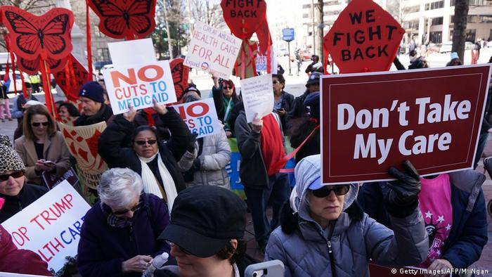 USA Washington - Proteste gegen die geplante Health-Care Reform (Getty Images/AFP/M. Ngan)