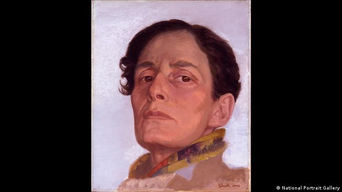 Self portrait painting of Hannah Gluckstein 1985-1978 Gluck 1942 (National Portrait Gallery)