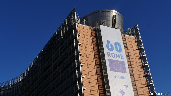 EU Gipfel 60 Jahre EU-Kommissionsgebäude Berlaymont in Brüssel (DW/B. Riegert)