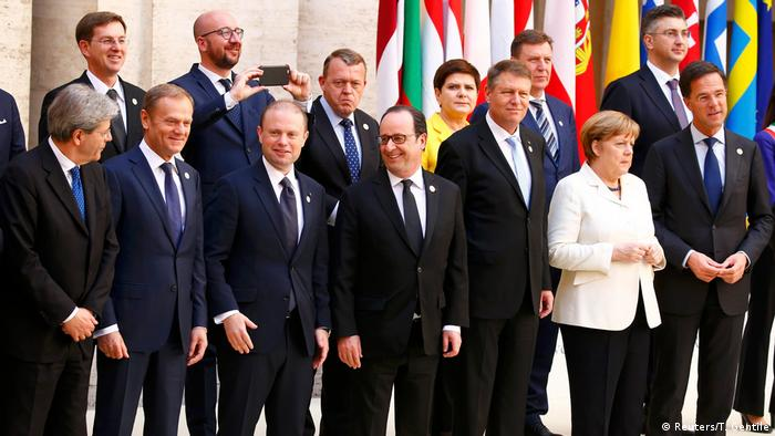 EU feiert 60. Geburtstag in Rom (Reuters/T. Gentile)