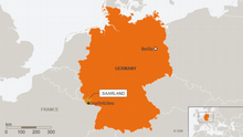 Karte Saarland Saarbrücken ENG