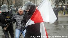 Weißrussland Proteste in Minsk (picture alliance /AP Photo/S. Grits)