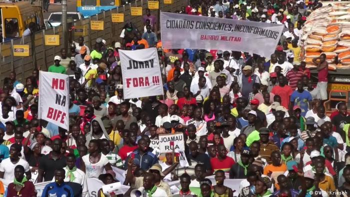 Guinea-Bissau Anti Regierungs Protest