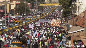 Guinea-Bissau Anti Regierungs Protest