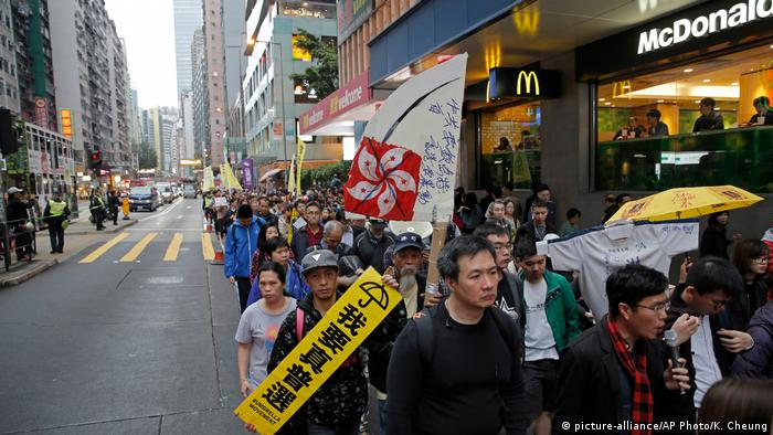 Hongkong Demonstration Wahlen (picture-alliance/AP Photo/K. Cheung)