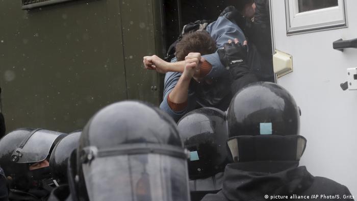 Массовые аресты в Минске после акции протеста 25 марта