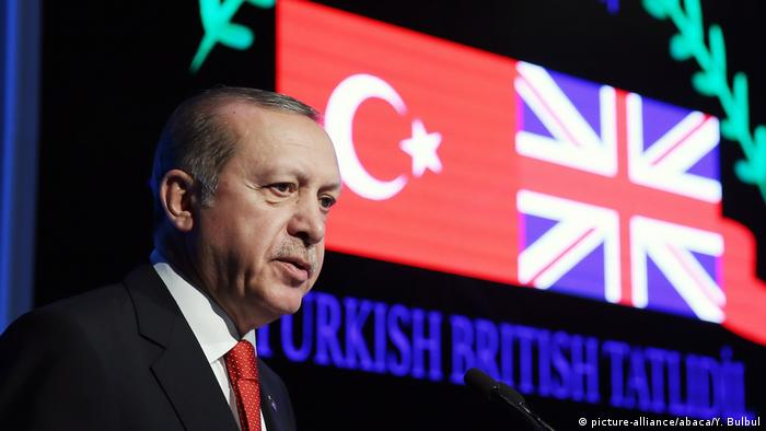 Türkei Antalya Erdogan Türkisch-Britisches Forum (picture-alliance/abaca/Y. Bulbul)