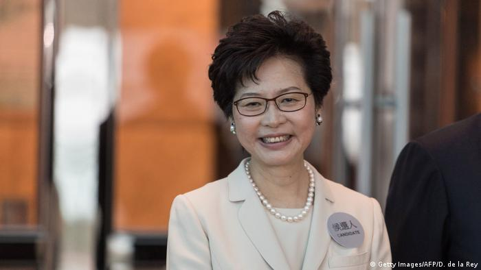 Hongkong chief executive Kandidatin Carre Lam (Getty Images/AFP/D. de la Rey)