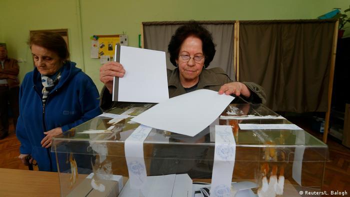 Bulgarien Sofia Parlamentswahlen Wahllokal