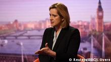 UK Innenministerin Amber Rudd in der BBC in London
