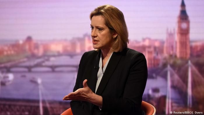 Britain's Home Secretary Amber Rudd is seen appearing on the BBC's Andrew Marr Show (Reuters/BBC/J. Overs)