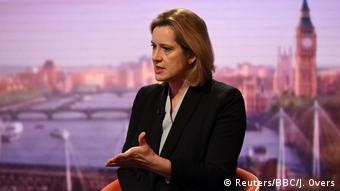 UK Innenministerin Amber Rudd in der BBC in London (Reuters/BBC/J. Overs)