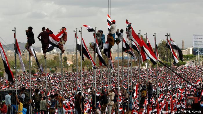 Jemen Huthi Demonstration